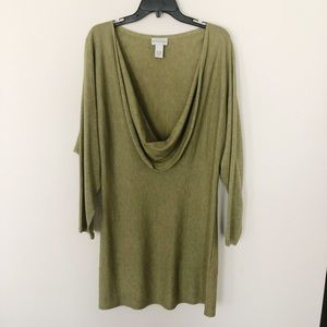 Soft Surroundings Sweater Dress with Scoop Neck
